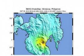 Gempa Mindanao Magnitudo 6,6 setara 5-8 bom atom