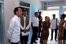 Tiba di Kota Palu, Jokowi tinjau pembangunan hunian tetap korban gempa