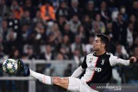 Akibat cedera lutut, Ronaldo absen perkuat Juventus melawan Atletico