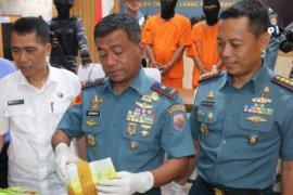 Kembangkan penangkapan sabu, Lanal Palembang koordinasi dengan BNN