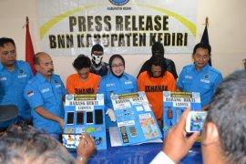 BNN Kabupaten Kediri ringkus dua pengedar narkoba