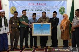 Mahkamah Syar'iyah Aceh Jaya bersama Forkopimda tanda tangani zona integritas bebas korupsi