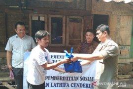 Warga dua desa di Cianjur terima bantuan sambako dari Kemensos
