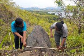 Arkeolog temukan papan batu megalitik dan menhir di Bukit Yamokho, Papua