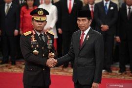 Presiden Jokowi lantik Idham Azis sebagai Kapolri