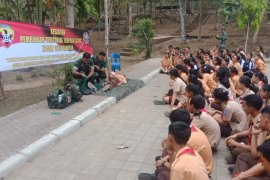 Kodim Gianyar bekali Pramuka Saka Wira Kartika dengan lima krida