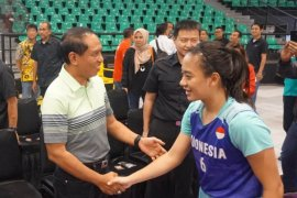 Menpora Zainuddin minta pebasket Indonesia tak minder di lapangan