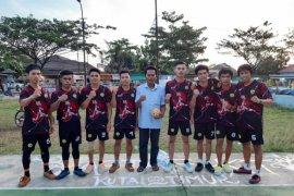 IPSKT Kutim dominasi  turnamen sepak Takraw KNPI Cup