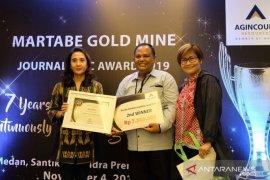Wartawan ANTARA Sumut juara II Journalistic Award 2019 Tambang Emas Martabe