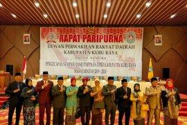 Empat pimpinan definitif DPRD Kubu Raya Kalbar dilantik