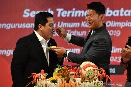 Erick serahkan NOC Indonesia kepada Raja Sapta Oktohari