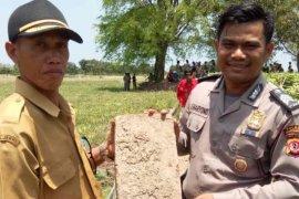 Tim ahli cagar budaya teliti temuan batu bertanda tapak kaki anjing di Sambimaya
