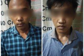 Polisi Tanjungpura Langkat tangkap dua tersangka pemilik sabu-sabu