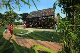 Taman Mozaik Surabaya mulai dikunjungi banyak warga