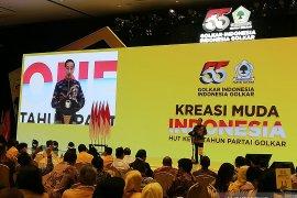 Presiden Jokowi ingatkan Golkar agar solid