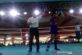 Fighter Muaythai Bengkulu menang TKO