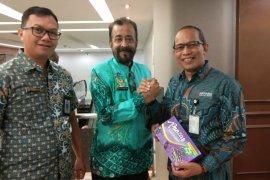 Kadis Kominfo foto bersama CEO Antara Digital Media