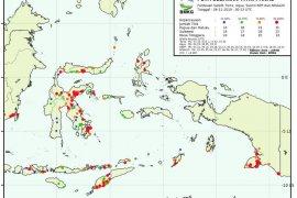 Di Mappi dan Merauke BMKG kembali deteksi 26 titik api