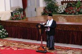 Dianggap lebih ahli, Jokowi persilakan Ma'ruf Amin beri sambutan Maulid Nabi