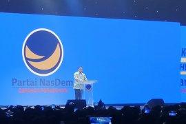 Di Kongres II NasDem, Anies Baswedan bicara soal persatuan