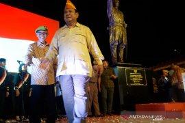 Praboworesmikan patung Jenderal Soedirman di Sleman