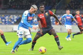 Napoli gagal raih poin penuh  saat menjamu Bologna