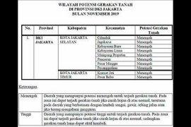 Ada di 10 lokasi potensi gerakan tanah di Jakarta