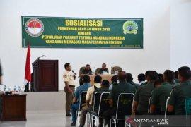 Prajurit Korem 133 Gorontalo terima sosialisasi dari Kemenhan