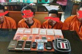 Polres Inhil tangkap empat pelaku penyalahgunaan narkotika