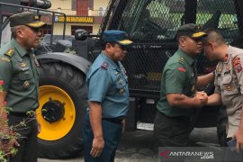 Kasdam I/BB tinjau lokasi bom  bunuh diri Mapolrestabes Medan