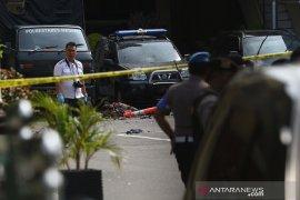 Bom Medan, Densus 88 olah TKP ledakan di Mako Polrestabes Medan