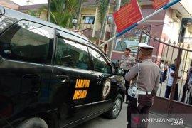 Pasca ledakan, puluhan Brimob jaga ketat Polrestabes Medan