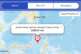 BMKG menyatakan peringatan dini tsunami gempat Malut telah berakhir
