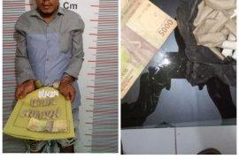 Polisi Secanggang Langkat tangkap pemilik puluhan paket ganja