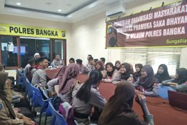 Polres Bangka bina Saka Bhayangkara cintai Pancasila dan NKRI