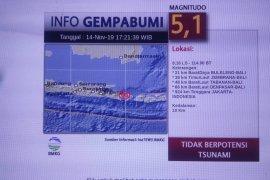 Sebagian warga Jember rasakan gempa bumi di Bali