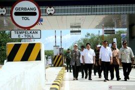 Usai diresmikan Jokowi, tol Terbanggi Besar-Kayu Agung Sumsel digratiskan sebulan