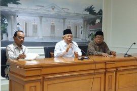 Ma'ruf Amin ngaku belum ada pembahasan dengan Jokowi terkait Ahok jadi Dirut BUMN