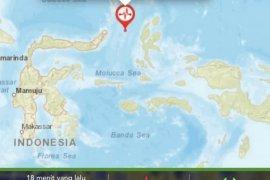 Pascagempa M 7,1 di Malut terjadi 74 gempa susulan