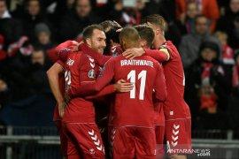 Kualifikasi Piala Eropa, Lumat Gibraltar 6-0, Denmark puncaki Grup D
