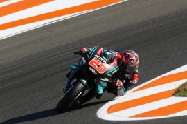Quartararo incar finis podium GP Valencia
