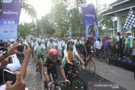 "86 pesepeda ramaikan ""CitiCyclink Bike to Nature"" di Belitung"