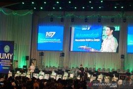 Nadiem Makarim hadiri Milad Muhammadiyah, ini sambutannya