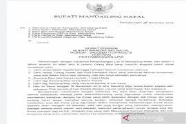 Bupati Madina keluarkan surat edaran larangan pertambangan liar