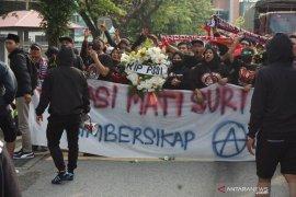 Aliansi Suporter gelar unjuk rasa di Stadion Bukit Jalil