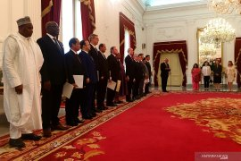 14 Dubes tiba di Istana Merdeka