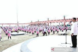 1300 Lansia ikut senam meriahkan HUT ke-69 Tapsel