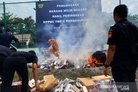 DJBC Sumbagtim sita 14 juta batang rokok ilegal