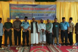 Warga Rutan Tanjung Pura peringati Maulid Nabi Muhammad SAW