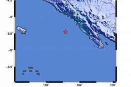 Gempa magnitudo 4,8 goyang Pesisir Barat Lampung tak berpotensi tsunami